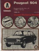 Peugeot 504, workshop manual